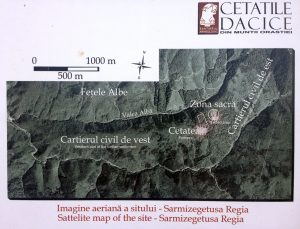 harta a sitului sarmizegetusa regia